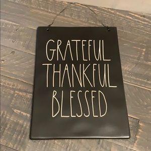 🎀🆕Rae Dunn GRATEFUL THANKFUL BLESSED Wall Sign